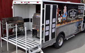 Mobile Catering in Calgary With Ranch BBQ Food Truck - Full Kitchen and BBQ Setup