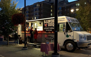 Mobile Catering in Calgary With Ranch BBQ Food Truck - selling food out the window